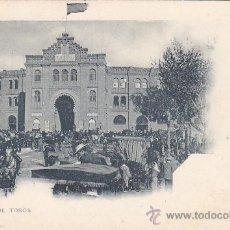 Postales: PLAZA DE TOROS DE MADRID: POSTAL DE HAUSER Y MENET NUMERO 23 REVERSO SIN DIVIDIR. NO CIRCULADA.. Lote 22452935