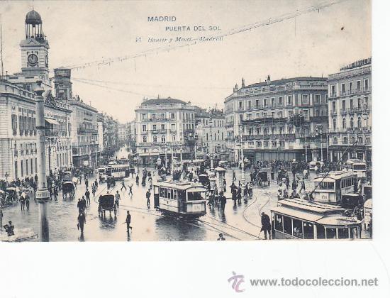 Puerta del sol tarjeta postal antigua hauser y comprar for Comunidad del sol