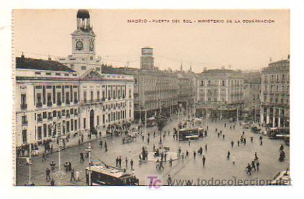 MADRID. PUERTA DEL SOL. MINISTERIO DE LA GOBERNACIÓN. (Postales - España - Comunidad de Madrid Antigua (hasta 1939))