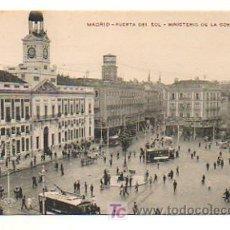 Postales: MADRID. PUERTA DEL SOL. MINISTERIO DE LA GOBERNACIÓN. . Lote 19818611