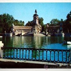 Postales: MADRID. ESTANQUE DEL RETIRO Y MONUMENTO A ALFONSO XII.. Lote 23472892