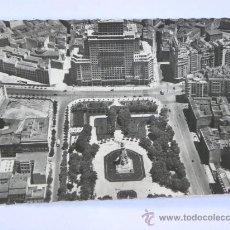 Postales: POSTAL VISTA AEREA PLAZA ESPAÑA MADRID SIN EDIFICIO TORRE MADRID C1956. GARCIA GARRABELLA. Lote 27079076