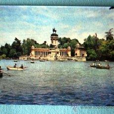 Postales: MADRID. ESTANQUE DEL RETIRO Y MONUMENTO A ALFONSO XII.. Lote 23619487