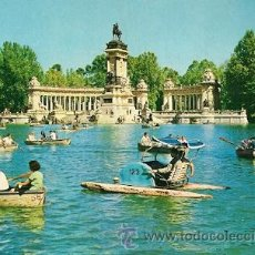 Postales: MADRID - PARQUE DEL RETIRO. ESTANQUE Y MONUMENTO A ALFONSO XII. Lote 20279949