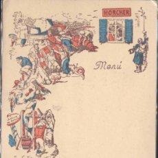 Postales: MADRID.- TARJETA DEL RESTAURANTE HORCHER EN CALLE ALFONSO XII. Lote 20465890