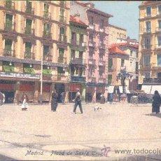 Postales: MADRID.- PLAZA DE SANTA CRUZ. Lote 20466999