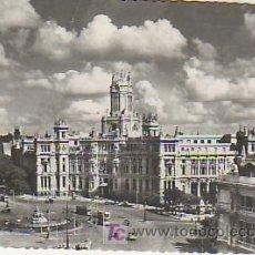 Postales: MADRID 4.PLAZA CIBELES Y PALACIO COMUNICACIONES.VEA MAS POSTALES EN RASTRILLOPORTOBELLO. Lote 20622794