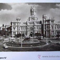 Postales: MADRID, PLAZA DE LA CIBELES, PLACE, SQUARE. N° 15. Lote 26943236