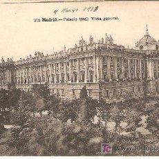 Postales: POSTAL DE MADRID - ESCRITA SIN SELLO . Lote 26030097