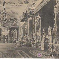 Postales: MADRID.PALACIO REAL.SALON DEL TRONO.Nº5.. Lote 20906000