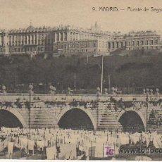 Postales: MADRID.PUENTE DE SEGOVIA Y PALACIO REAL.Nº9.MAS POSTALES Y COLECCIONSIMO EN RASTRILLOPORTOBELLO. Lote 27347931
