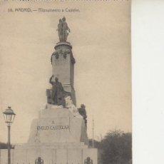 Postales: MADRID.Nº16 MONUMENTO A CASTELAR. VEA MAS POSTALES Y COLECCIONSIMO EN RASTRILLOPORTOBELLO. Lote 20906208