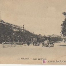 Postales: MADRID.Nº17 SALON DEL PRADO.COCHE ANTIGUO- VEA MAS POSTALES Y COLECCIONSIMO EN RASTRILLOPORTOBELLO. Lote 20906215