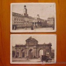 Postales: 2 POSTALES ANTIGUAS DE MADRID. PUERTA DEL SOL Y PUERTA DE ALCALÁ. COLECCIONES LOTY.. Lote 26595918