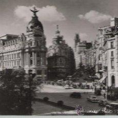 Postales: MADRID.- AVENIDA JOSÉ ANTONIO Y CALLE DE ALCALÁ.. Lote 21334635