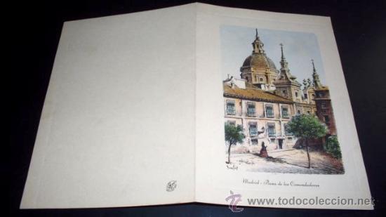 TARJETA POSTAL MADRID PLAZA DE LAS COMENDADORAS - 1958 (Postales - España - Madrid Moderna (desde 1940))