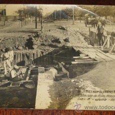 Postales: ANTIGUA FOTO POSTAL DE MADRID - CONSTRUCCION DEL METRO, METROPOLITANO ALFONSO XIII - ESTACION DE R. Lote 26854430