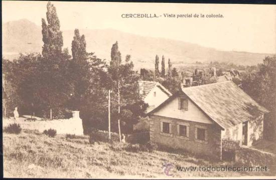 CERCEDILLA (MADRID).- VISTA PARCIAL DE LA COLONIA (Postales - España - Comunidad de Madrid Antigua (hasta 1939))