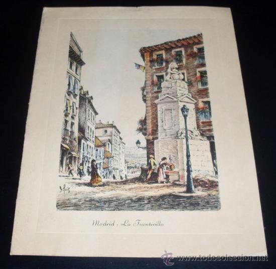 TARJETA POSTAL MADRID - LA FUENTECILLA (Postales - España - Madrid Moderna (desde 1940))