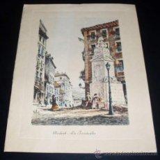 Postales: TARJETA POSTAL MADRID - LA FUENTECILLA. Lote 27135813