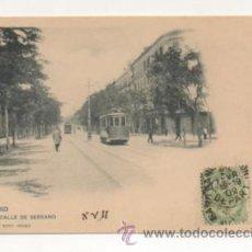 Postales: MADRID. CALLE DE SERRANO. (HAUSER Y MENET, Nº 274). REVERSO SIN DIVIDIR. . Lote 22399514