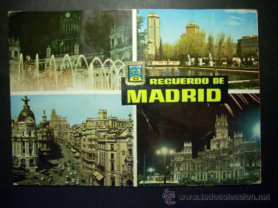 6290 ESPAÑA SPAIN ESPAGNE MADRID RECUERDO POSTCARD AÑOS 60 - TENGO MAS POSTALES (Postales - España - Madrid Moderna (desde 1940))