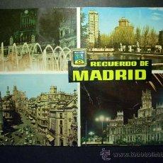 Postales: 6290 ESPAÑA SPAIN ESPAGNE MADRID RECUERDO POSTCARD AÑOS 60 - TENGO MAS POSTALES. Lote 22648517