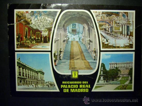 6293 ESPAÑA SPAIN ESPAGNE MADRID PALACIO REAL RECUERDO POSTCARD AÑOS 60 - TENGO MAS POSTALES (Postales - España - Madrid Moderna (desde 1940))