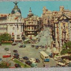 Postales: MADRID AVENIDA JOSÉ ANTONIO CIRCULADA 1967. Lote 27463269