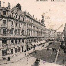 Postales: MADRID - CALLE SEVILLA. UNION POSTAL UNIVERSAL. Lote 27191307