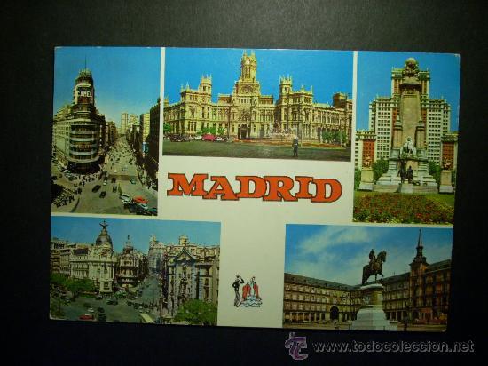 8269 ESPAÑA SPAIN ESPAGNE MADRID POSTCARD AÑOS 60 CIRCULADA - TENGO MAS POSTALES (Postales - España - Madrid Moderna (desde 1940))