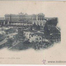 Postales: MADRID. LA ALMUDENA Y PALACIO REAL. AÑOS 1905. Lote 26466924