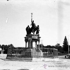 Postales: ANTIGUA FOTOGRAFIA DE CRISTAL ORIGINAL EN NEGATIVO DE MADRID - MONUMENTO A ISABEL LA CATOLICA - AÑOS. Lote 23926753
