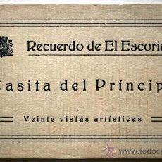 Postales: RECUERDO DE EL ESCORIAL. CASITA DEL PRINCIPE. ALBUM CON VEINTE VISTAS ARTISTICAS.. Lote 27085762