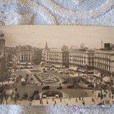 Postales: POSTAL PUERTA DEL SOL MADRID AÑOS 50. Lote 24475094