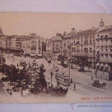 Postales: MADRID. CALLE DE ALCALÁ. CIRCULADA, ESCRITA Y CON SELLO DE 10 CTS DE ALFONSO XIII (13-7-10). Lote 27247608