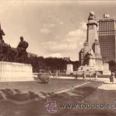 Postales: Nº 7683 MADRID HOTEL PLAZA Y MONUMENTO A CERVANTES. Lote 24743340