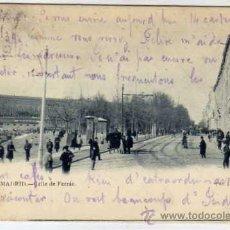 Postales: MADRID. Nº 37. CALLE DE FERRAZ.CIRCULADA. FOT LAURENT. SIN DIVIDIR.. Lote 24894227