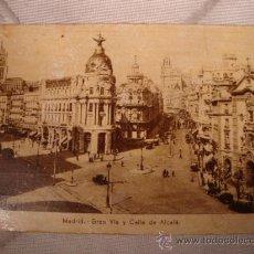 Postales: ANTIGUA POSTAL DE MADRID, GRAN VIA Y CALLE DE ALCALA.. Lote 24952389