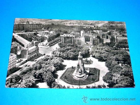 POSTAL MADRID, PLAZA DE ESPAÑA. CIRCULADA AÑO 1957. . (Postales - España - Madrid Moderna (desde 1940))