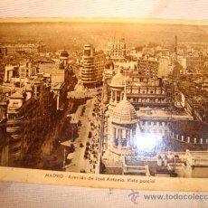 Postales: ANTIGUA POSTAL DE MADRID, AVENIDA DE JOSE ANTONIO. CON SELLO FRANCO.. Lote 25024539