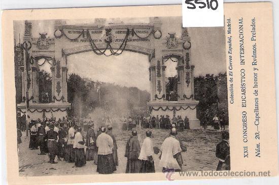 MADRID- XXII CONGRESO EUCARISTICO INTERNACIONAL-20- COL EL CORREO ESPAÑOL- FOT. LACOSTE-(5510) segunda mano