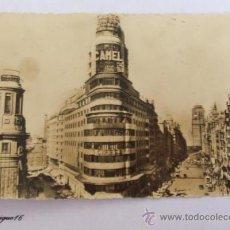 Postales: MADRID, AVENIDA JOSE ANTONIO Y CAPITOL. 1950, ENVIADA A MONTEVIDEO. N° 6. Lote 25352802