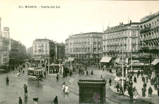 Madrid puerta del sol postal blanco y negro comprar for Correo comunidad de madrid