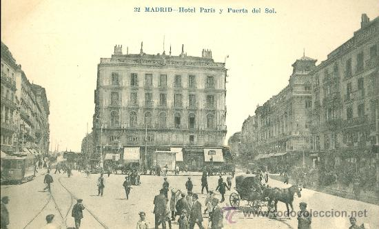 Madrid hotel par s y puerta del sol postal bl comprar for Hotel paris en madrid puerta del sol