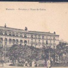 Postales: MADRID.- ESTATUA Y PLAZA DE COLÓN. Lote 25769581