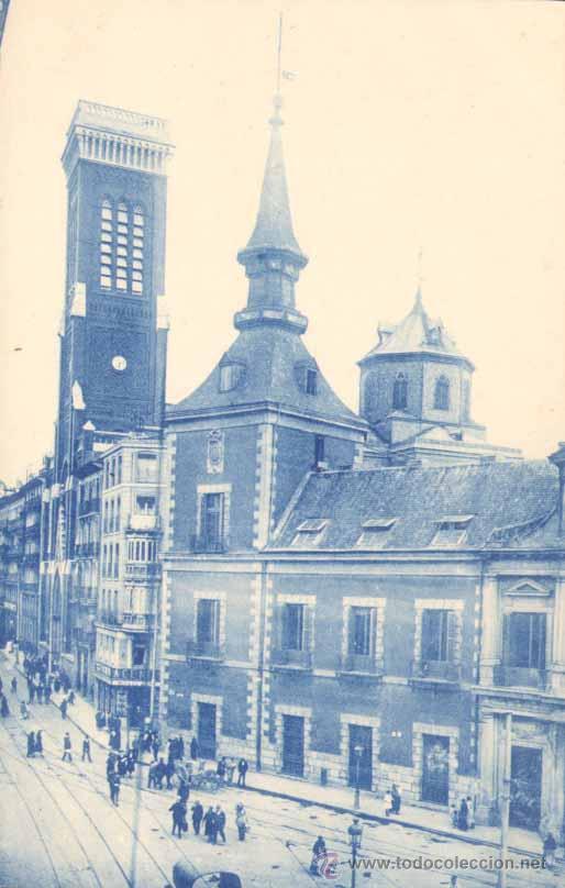 MADRID.- PLAZA Y TORRE DE SANTA CRUZ (Postales - España - Comunidad de Madrid Antigua (hasta 1939))
