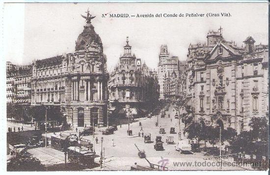 MADRID , AVENIDA DEL CONDE DE PEÑALVER (Postales - España - Comunidad de Madrid Antigua (hasta 1939))