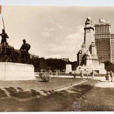 Postales: POSTAL MADRID PLAZA DE ESPAÑA HOTEL PLAZA Y MONUMENTO A CERVANTES JHERR CIRCULADA 1957. Lote 25922851