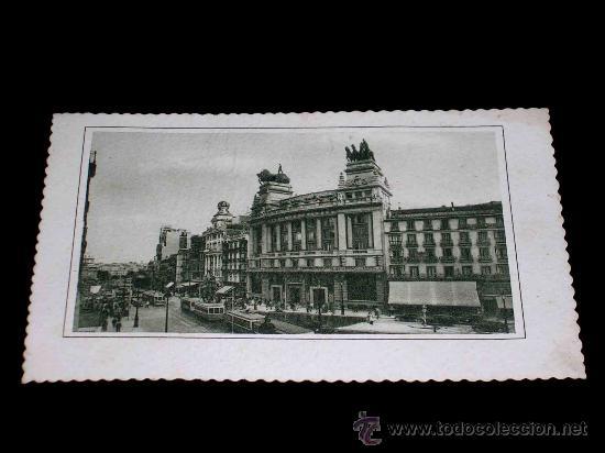 ANTIGUA POSTAL MADRID, EDIFICIO DEL BANCO DE BILBAO Y CALLE ALCALÁ, CIRCULADA AÑO 1948. (Postales - España - Madrid Moderna (desde 1940))